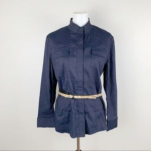 ELIE TAHARI Stretch Shirt Jacket